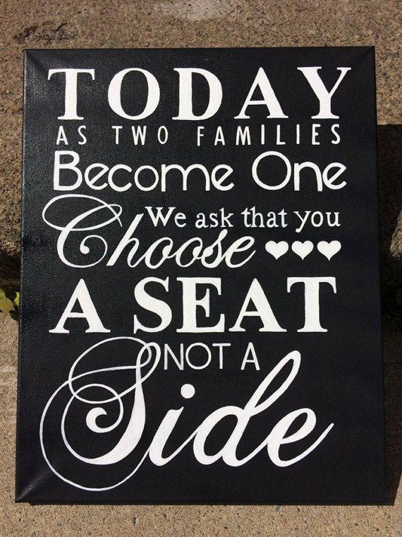 Choose a seat Wedding Sign by SweetHarmonyRose on Etsy