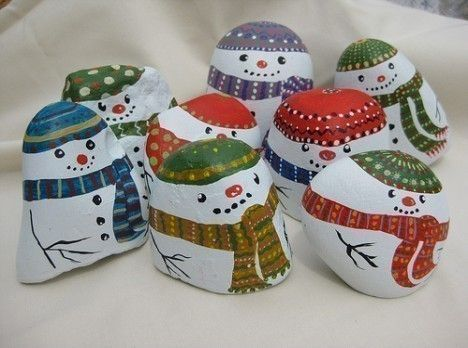 Regali di Natale fai da te: sassi dipinti | Hobby Donna Trendy