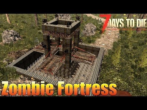 7 Days to Die - Fortress & Zombie Grinder Base (Alpha 15) - YouTube