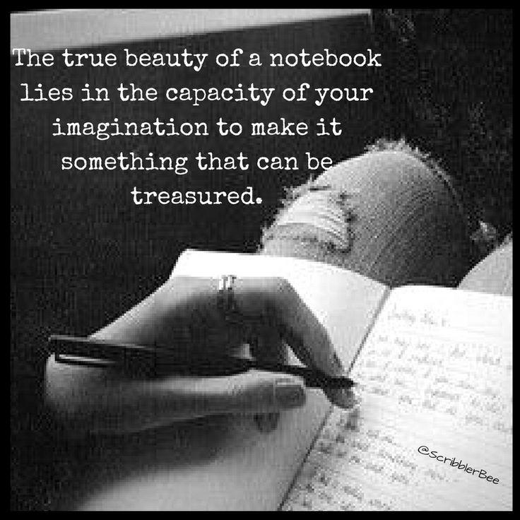 Something to be treasured ie. Notebook! https://www.tumblr.com/blog/scribblerbee-things