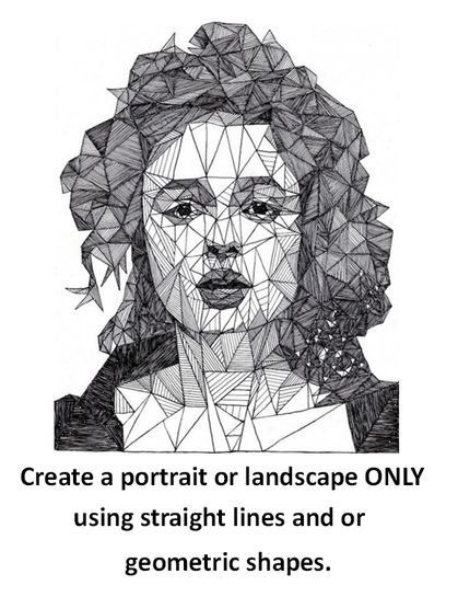 Drawing Using Straight Lines : Portrait using straight lines art ideas pinterest