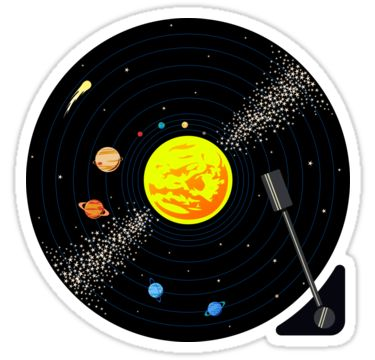 For people who love vinyl and space! / Follow me on social media, new designs all the time! • Also buy this artwork on stickers, apparel, phone cases, and more.