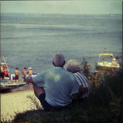 Impressive picture of an old couple. I like the vintage mood of the photo, and their beautiful love.
