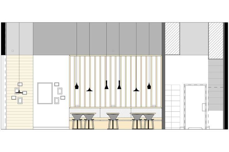 План современного дизайна кафе - Фото 1