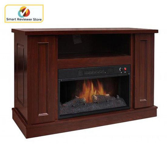 42 Inch TV Stand With Fireplace Media Console Electric Entertainment Center SALE #DecorGratesInc