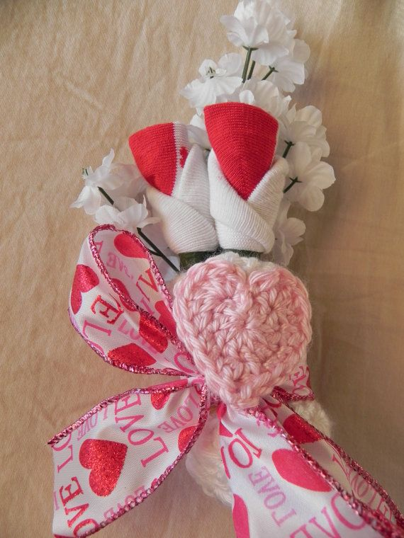 Girl Baby Shower Corsage with Heart Beanie Hat by JeannaSadorra, $17.00