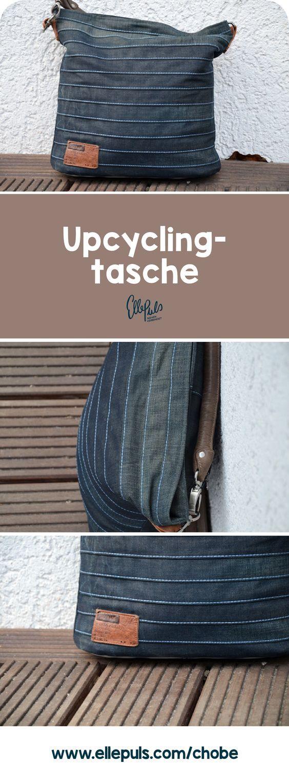 Alte Jeans + Lederreste + Putzlappen = Feinstes Upcycling. Geile Tasche.