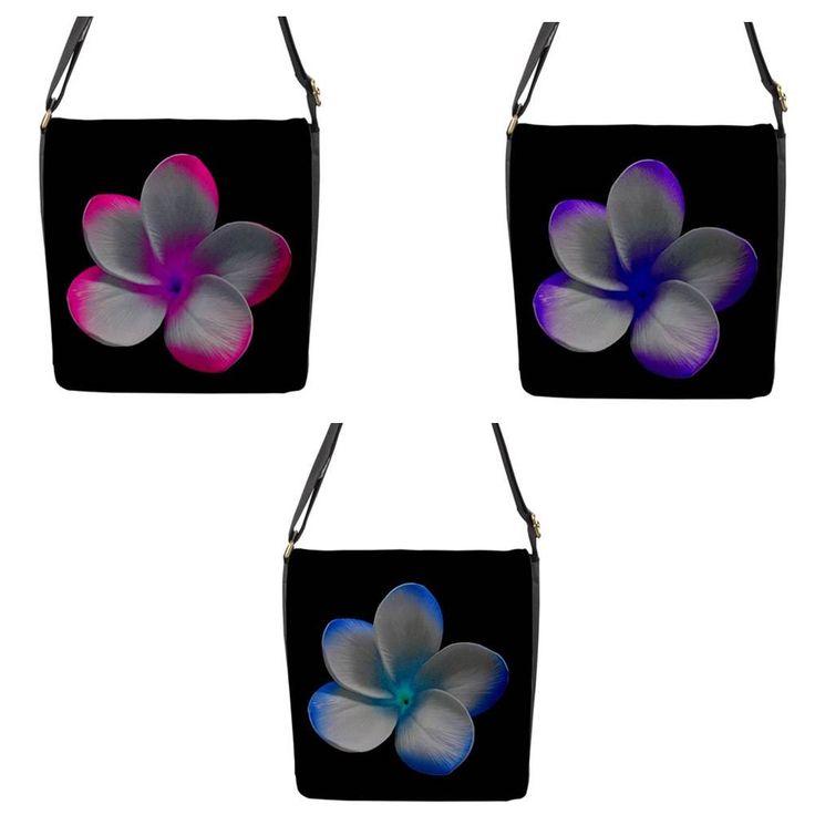 Neon Frangipani Chameleon Removable Flap Shoulder Bag (Petite)