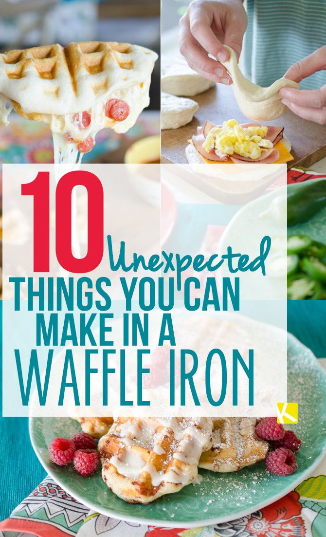 You've been underestimating your waffle iron for way too long. Pull that baby out and use it to make these quick meals and desserts!  Tip: Don't...