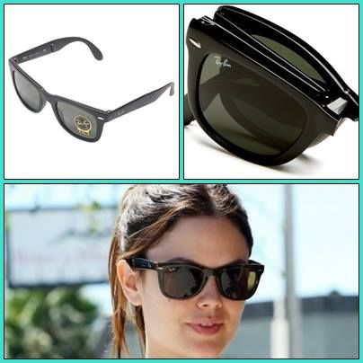 ray ban unisex rb4105 folding wayfarer sunglasses  hollywood celebrity rachel wearing ray ban folding wayfarer sunglasses,rachel's face must be tiny makes sense since she's such a tiny girl! http\u2026