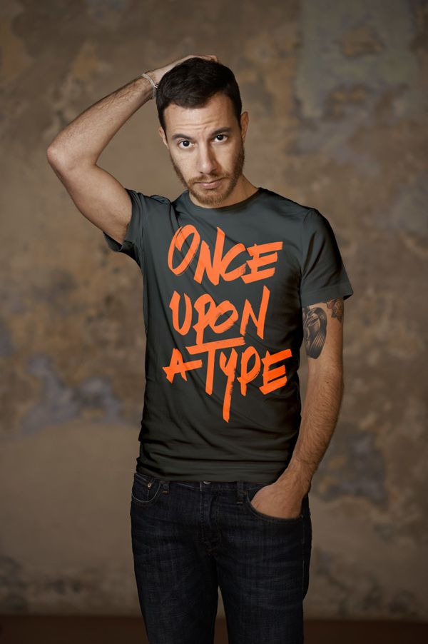 Once upon a type by Peter & Wendy #type #typography #tee #screenprint #orange