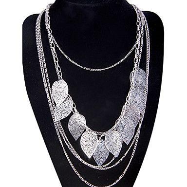 Wandering bohemian multi- leaf leaves tassel necklace long sweater chain hollow N706 2016 - $2.99