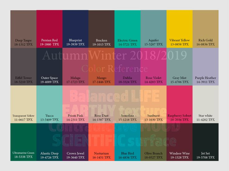 autumn winter 2018 2019 trend forecasting is a trend color guide that