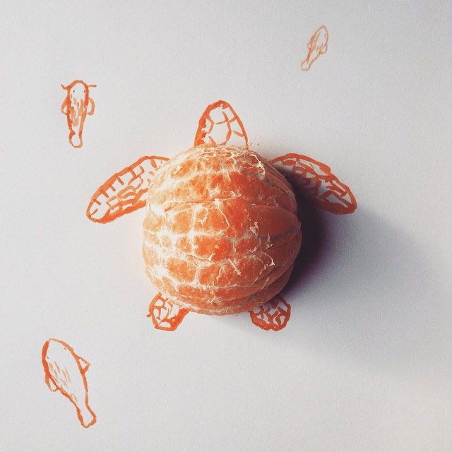 Czech artist Kristián Mensa has created a series of ingenious illustrations that incorporate food and other household items that enhance and complete the images.