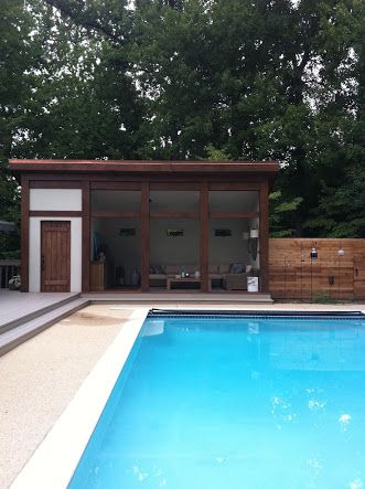 Image result for pool filter house and cabana
