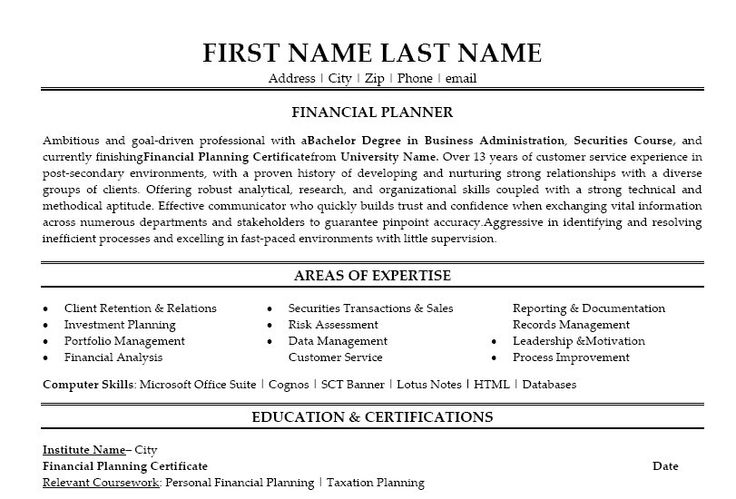 11 best images about best financial analyst resume