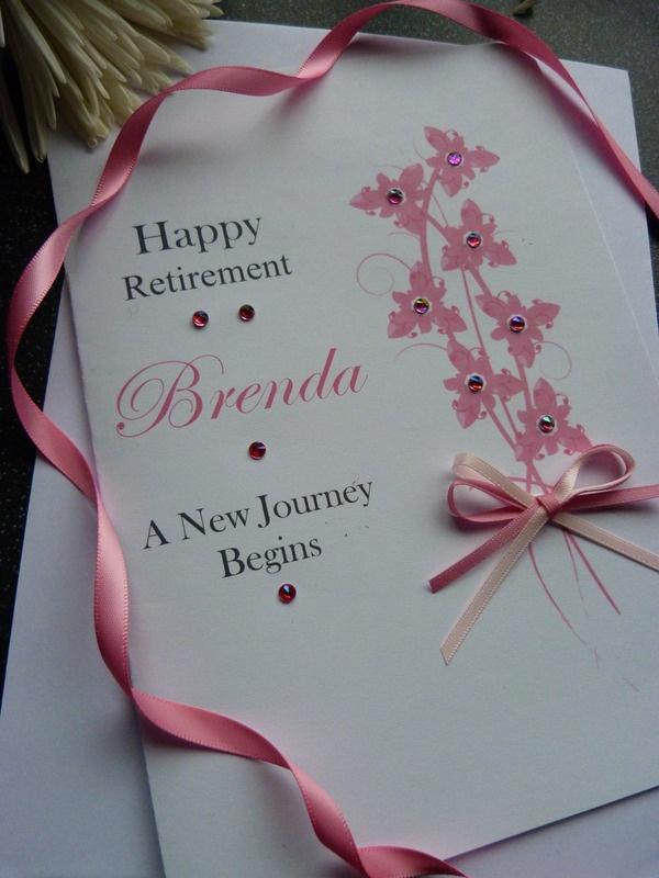 ♥ Handmade Personalised Floral Retirement Card | eBay