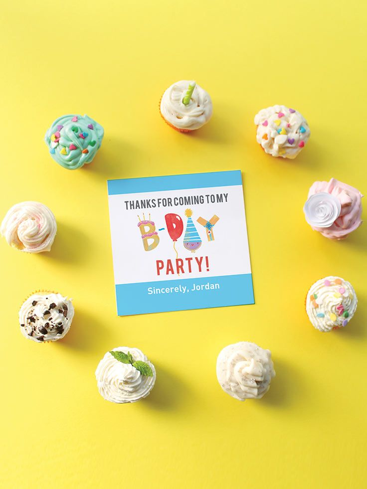 Fun Play Party Kids Thank You Cards by Oubly.com