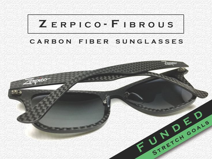 We love sunglasses. So we created a pair of awesome Carbon fiber ones. You´ll love sunglasses too after seeing them. Help us make them!