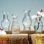 Bud Vases - Set of 4, Assorted
