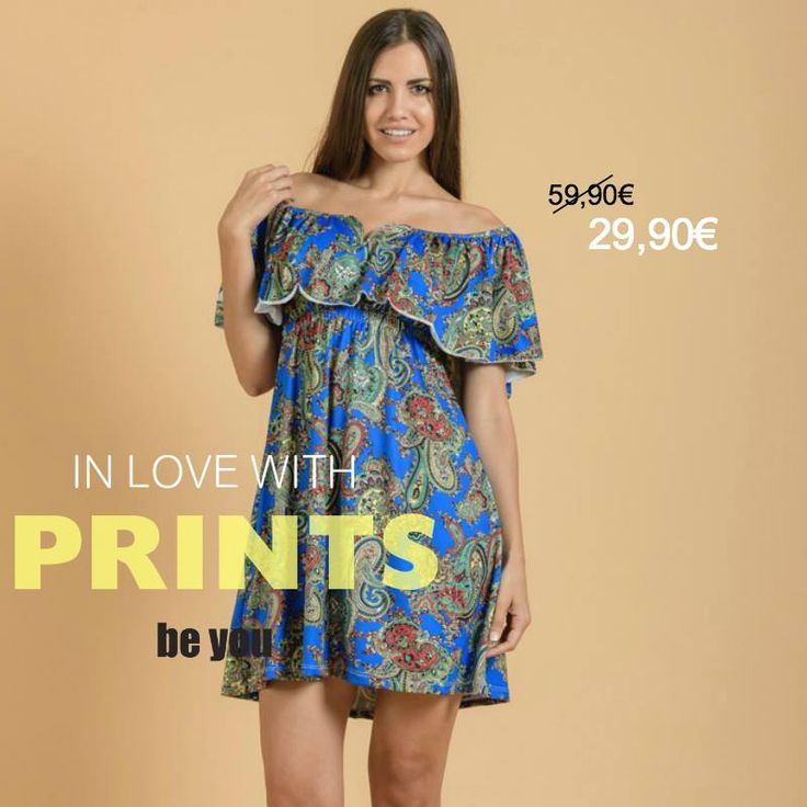 Outfit of the Day! Φόρεμα > http://goo.gl/GV3gyg #minidress #beyoucomgr #prints #sale #summer