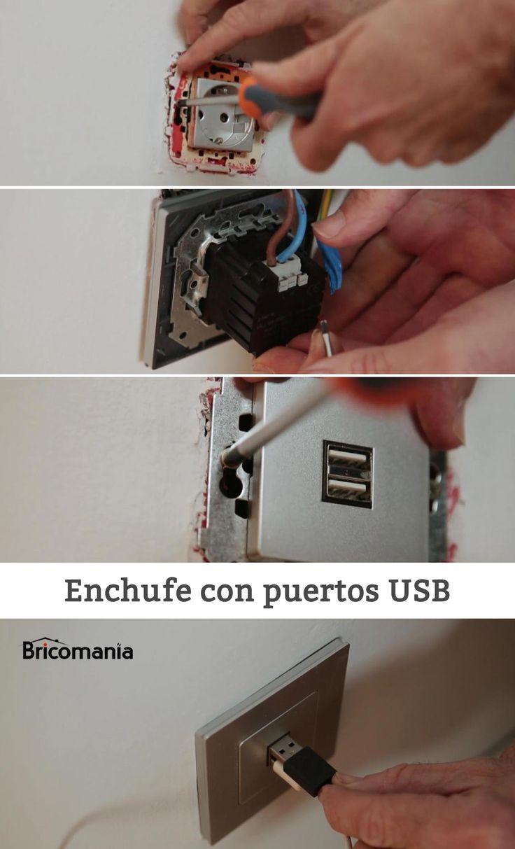 cmo colocar un enchufe con puertos usb bricolaje electricidad bricomana usb