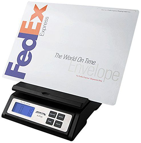 Accuteck Heavy Duty Postal Shipping Scale with Extra Large Display Batteries and AC Adapter (A-ST85C)