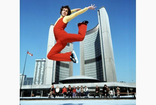 Toller Cranston at Toronto city hall in 1973. Remembering Toller Cranston - Beautiful skater, beautiful artist. Love this image.