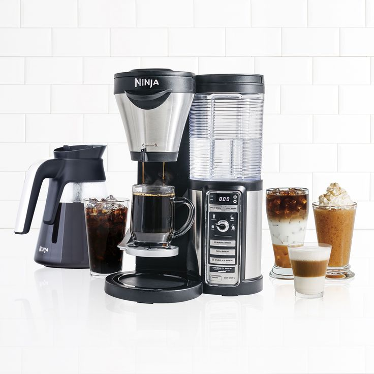 Ninja CF082 Coffee Bar Brewer System (10-cup), Black (Stainless Steel)
