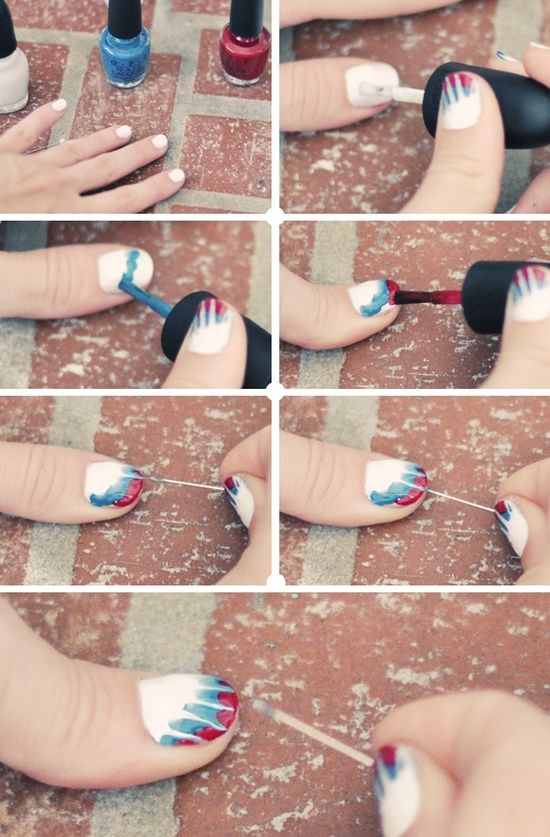 38 Interesting Nail Art Tutorials. This one especially lots cool and relatively easy.