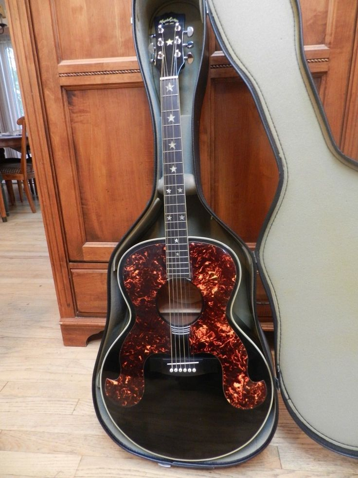 "VINTAGE Hondo ""Little Susie"" Acoustic Guitar 1984 with extra bling"