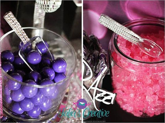 2 Bling scoops and 2 Bling tongs by LavishPartiesbyTalia on Etsy