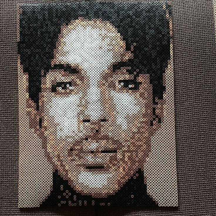 Prince (1958-2016) portrait perler beads by glitterfnitterlinda