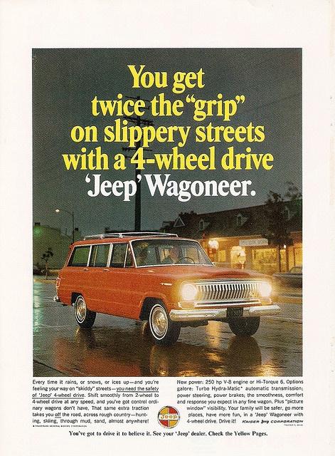 Jeep Wagoneer ad.