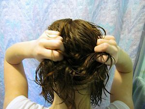 How to Scrunch your hair.