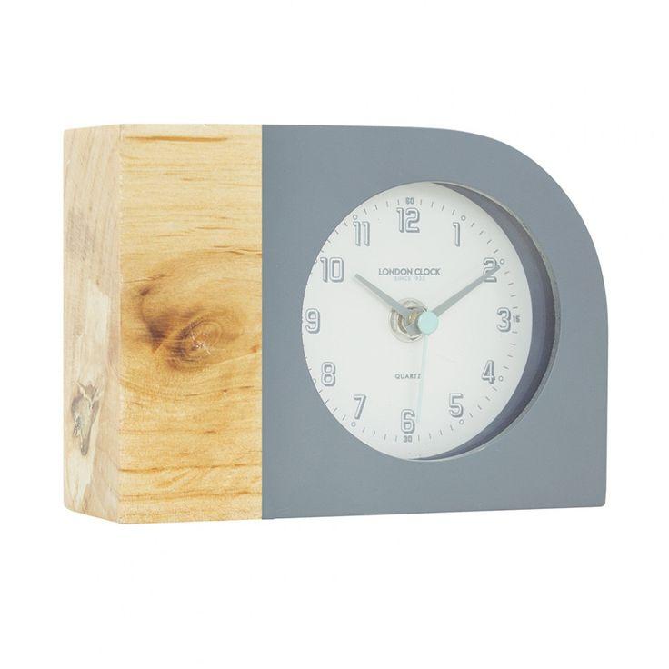 London Clock | Tide Grey Dipped Mantel Clocks