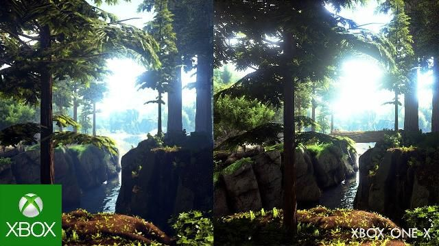 ARK: Survival Evolved Xbox One X Gameplay Comparison