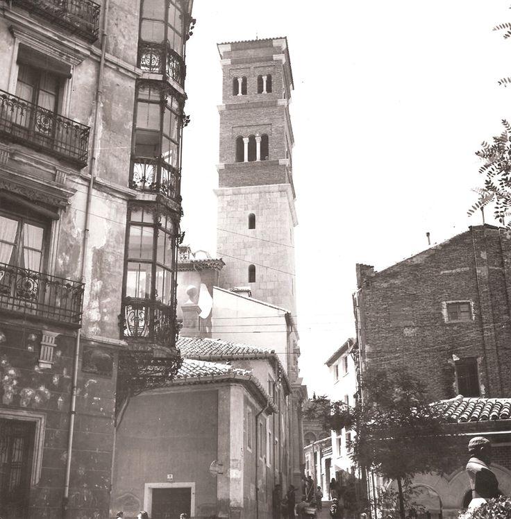 Torre de la iglesia de San Andrés, Teruel, 1945