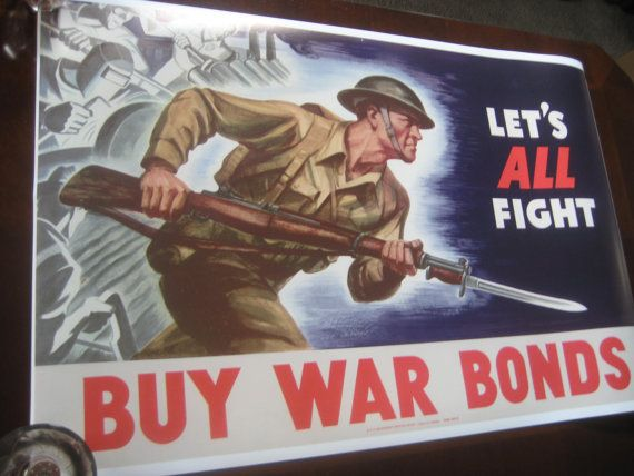 WW2 Propaganda Poster Repro Let's All Fight WWII by NathanHM