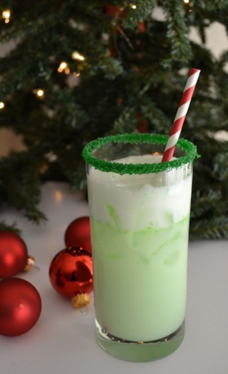 "Top 10 Christmas Alcoholic Drinks - Peppermint White Russians, Frosted Coconut Blitz, Candy Cane Cocktail, Grinch Spritzer, The North Pole, Peppermint Martini ""Peppermintini"", Eggnog Martini, Peppermint Cosmos, Eggnog w/Cookie Ornament Garnish, and Candy Cane Mojitos."