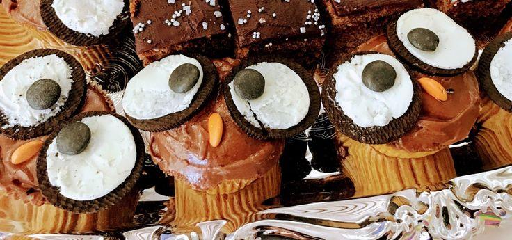 Carrot cake owl cupcakes