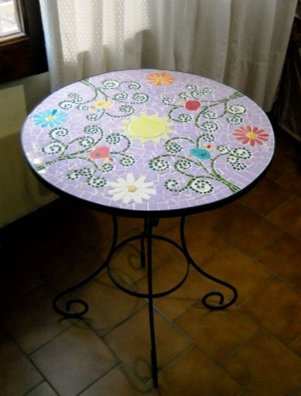 Imagen 5 mesa de hierro revestida mosaico trencadis - Muebles tante ...
