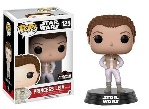 Star Wars The Empire Strikes Back: Princess Leia in Hoth gear Pop figure by Funko, Star Wars Celebration 2017 exclusive