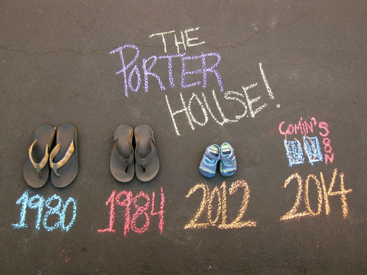 2nd child announcement - thank you other great pinners and your ideas. I know its not original but for us it is!