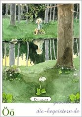 Postkarte Majas Alphabet [Öö]