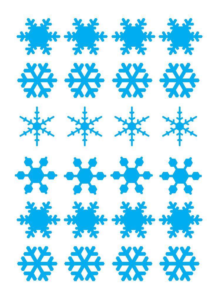 template fiocchi di neve A4 paper