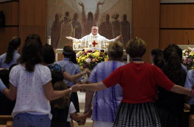 Remember Catholics: Join with the Pope in Adoration TODAY>St. Monica Catholic Church will host an all-night vigil, while others will hold prayer hours after Mass.