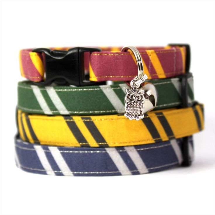 Wizard Breakaway Cat Collar with Owl Charm by MogsTogs on Etsy https://www.etsy.com/listing/109033414/wizard-breakaway-cat-collar-with-owl