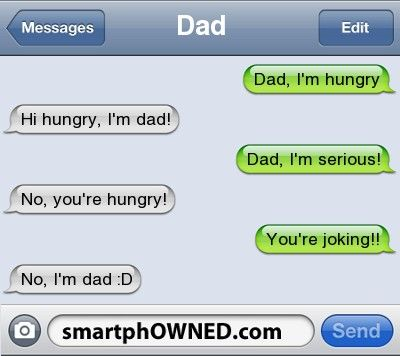 """my dad does this all the time! drives me nuts sometimes... also when i call him """"daddy"""" he says, """"whatty?"""" i sure love him!"""