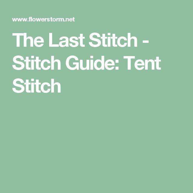 The Last Stitch - Stitch Guide: Tent Stitch